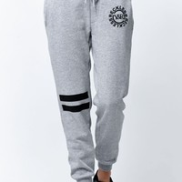 Young & Reckless Deep Cutt Jogger Pants - Womens Pants - Gray