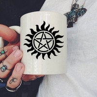 supernatural logo Mug, Ceramic Mug, Coffee Mug, tea mug,