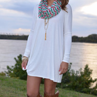 Time Well Wasted Ivory Long Sleeve Dress