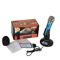 Wired Professional Condenser Recording Metal Microphone for iPhone iPad