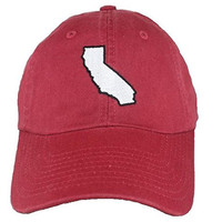 California Palo Alto Gameday Cardinal and White Embroidered Hat by State Traditions