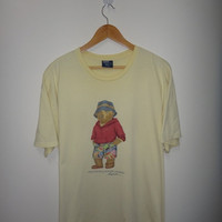 New Year Sale Vintage Polo Bear By Ralph Lauren Hawaii T Shirt
