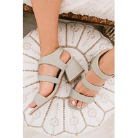 Along The Way Strappy Heels (Sage)