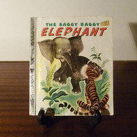 "Vintage 1974 Book ""The Saggy Baggy Elephant"" - A little Golden Book / Kids Book /"