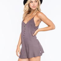 Rvca Escapade Womens Romper Mushroom  In Sizes