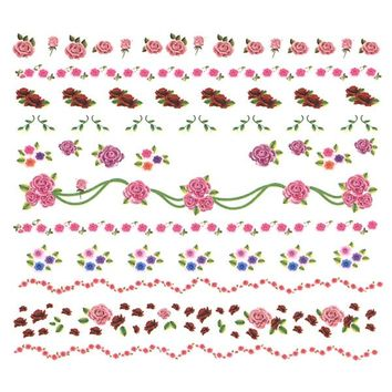 Nail Art Water Decals Sticker - Sweet Decals - Rose Garlands / Pink – Daily Charme