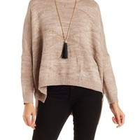 Crew Neck Pullover Sweater by Charlotte Russe