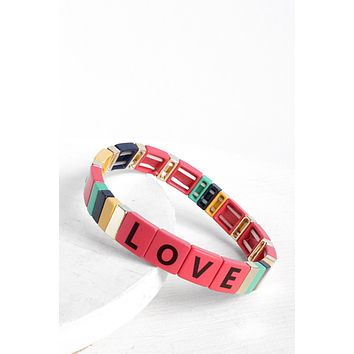 Color Block LOVE Bracelet