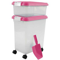 "Walmart: IRIS Combo Food Storage Container with Scoop, 10.8"" W x 16.5"" D x 18.6"" H, Mulitple Colors Available"