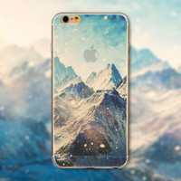 Big Snowy Mountains Tourism Scenery iPhone 5 5S iPhone 6 6S Plus Case + Nice Gift Box -125