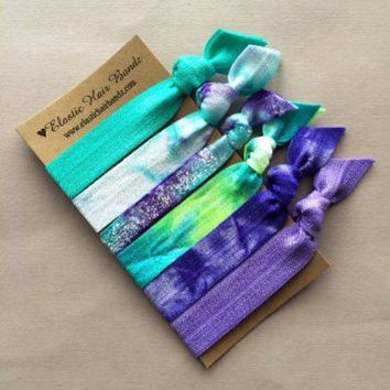The Monica Elastic Hair Tie Ponytail Holder Collection by Elastic Hair Bandz