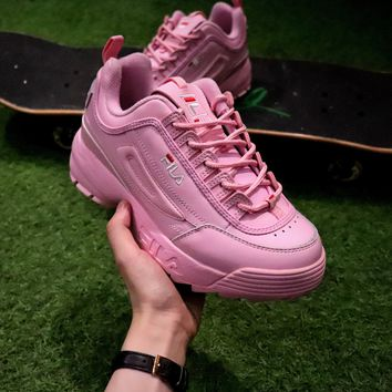 Best Online Sale FILA Disruptor II 2 Sport Running Shoes Pink FW0165-018