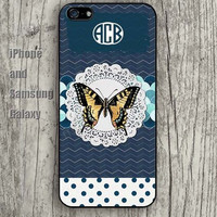 monogram custom Butterfly colorful iphone 6 6 plus iPhone 5 5S 5C case Samsung S3, S4,S5 case, Ipod touch Silicone Rubber Case Phone cover Waterproof