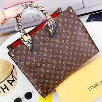 Louis Vuitton LV Fashion New Monogram Leather Shoulder Bag Women Handbag