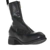 Full-Grain Zipped Leather Boots (PL2-SOFT-HORSE-FG-BLACKT)