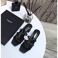 ysl women casual shoes boots fashionable casual leather women heels sandal shoes 3