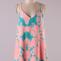 First Date Dress - Turquoise and Pink