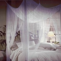 Mombasa Majesty Classic Bed Canopy White