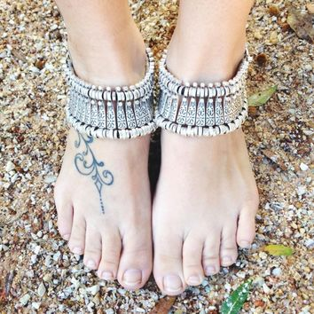 TURKISH SILVER ➳ LAYLA ANKLETS