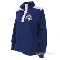 Monogrammed Snap Pullover | Marleylilly