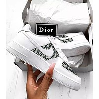 Hipgirls Nike air force 1 x Dior Women Men Sneakers Classic Shoes White