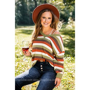 Best Time Of Year Multi Striped Sweater