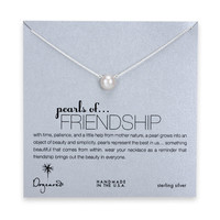 Dogeared, Large Pearls of Friendship White Pearl Necklace, Sterling Silver - 18 inch