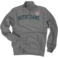 Notre Dame Fighting Irish 2013 BCS National Championship Game Irish 1/4-Zip Sweatshirt - Gray