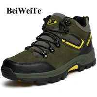 BeiWeiTe Men's Autumn Hiking Shoes Trail Trekking Hunting Sports Sneakers For Man Breathable Wearable High Top Outdoor Shoes NEW