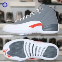 'Cool Grey/Orange' Air Jordan 12 (2012)