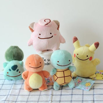 Fast Shipping High Quality 16cm Pokemon Go Plush Toy Anime Pikachu Squirtle Charmander Bulbasaur stuffed Soft Doll Gift For Kids 001