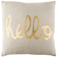 Hello Linen Pillow | Hobby Lobby