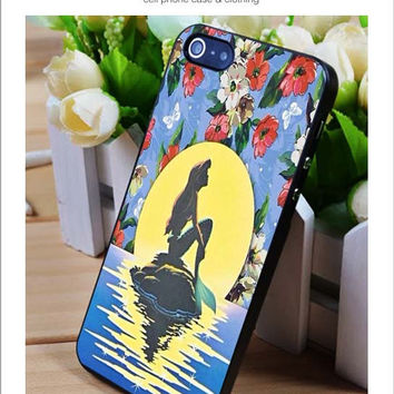 Ariel and Moon Flower iPhone for 4 5 5c 6 Plus Case, Samsung Galaxy for S3 S4 S5 Note 3 4 Case, iPod for 4 5 Case, HtC One for M7 M8 and Nexus Case