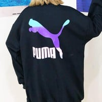 PUMA Popular Women Men Print Zipper Cardigan Sweatshirt Jacket Coat Windbreaker Sportswear