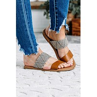 Seaside Camel Combo Slip On Sandals