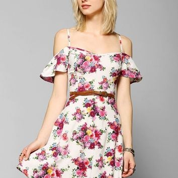 Band Of Gypsies Off-The-Shoulder Mini Dress - Urban Outfitters