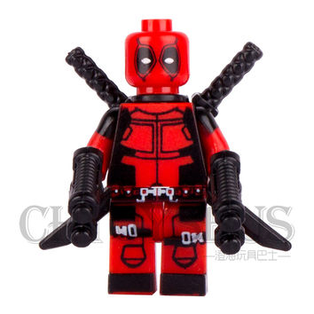 Single  Deadpool Wade T. Wilson Wolverine with Swords Guns AVENGERS Minifigures Model DIY Building Blocks Kids Toy Gift