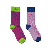 Nike 2 Pairs/Pack Kids High Crew Socks, Bright Neon Colors, 5Y-7Y