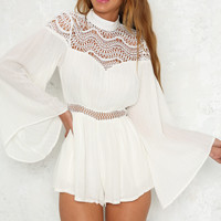Just So You Know Playsuit White