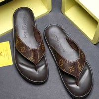DCCK Louis Vuitton LV Flip Flop Sandal Men Slipper