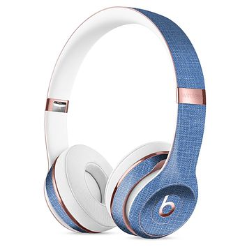 Cobalt Scratched Fabric Surface Full-Body Skin Kit for the Beats by Dre Solo 3 Wireless Headphones