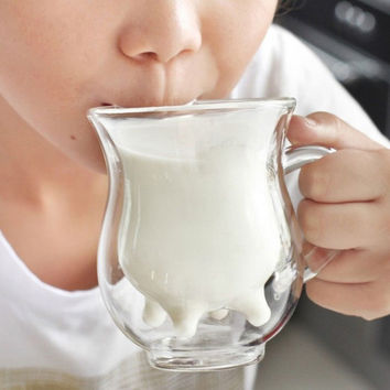 Hot Deal Cute Hot Sale Coffee Drinks On Sale Creative Glass Double-layered Cup [6283309894]