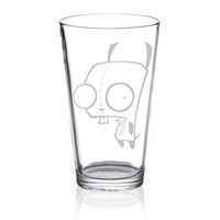 Invader Zim - Gir - Etched Pint Glass