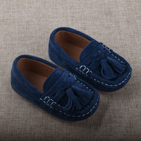 Boys Genuine Leather Shoes 2016 Children Loafers Suede Shoes Brown Red Blue Kids Casual Flats Sneakers Toddler Shoe 21-28