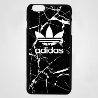 Rare Adidas Black Marble White Logo Custom For iPhone 7,7+ Print On Hard Case