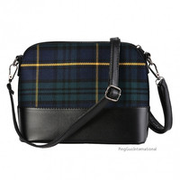 New Fashion Women Synthetic Leather Plaid Flap Shoulder Bag Cross Body Bag Messenger Bag = 1838546372