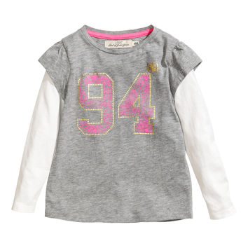 H&M - Jersey Top - Gray - Kids