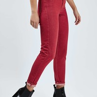 MOTO Red Mom Jeans