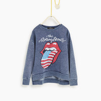 """""""Rolling Stones"""" sweatshirt - NEW IN-GIRL 