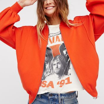 Free People Keep It In Check Sweater Jacket